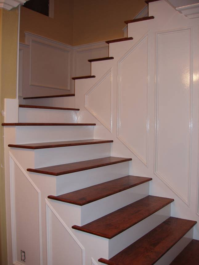Download Maple_treads. Mahogany Stairs And Landing