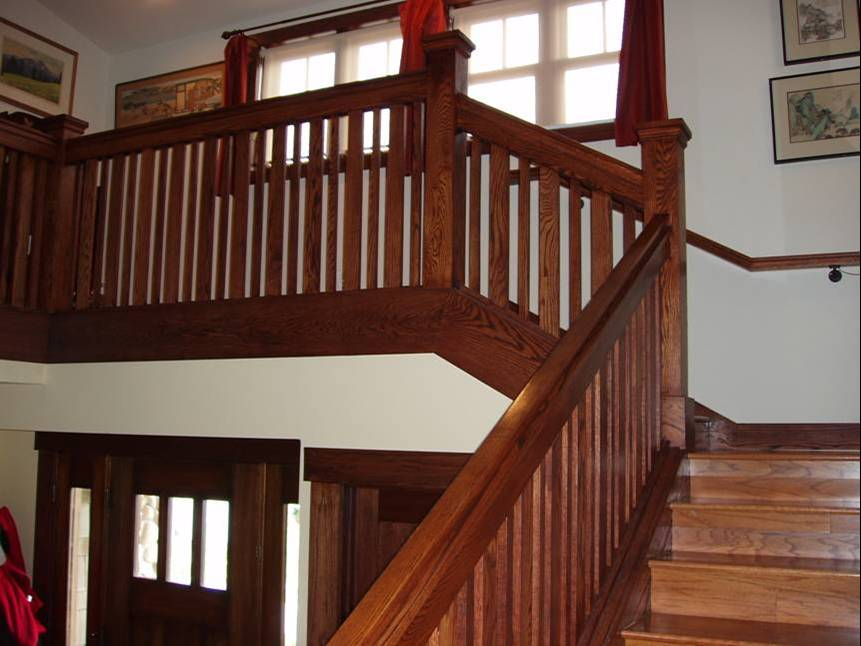 One of our teams custom built this handrail, balusters, and newel ...